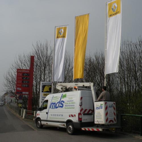 M ts drapeaux services service de pavoisement for Renault garage lille